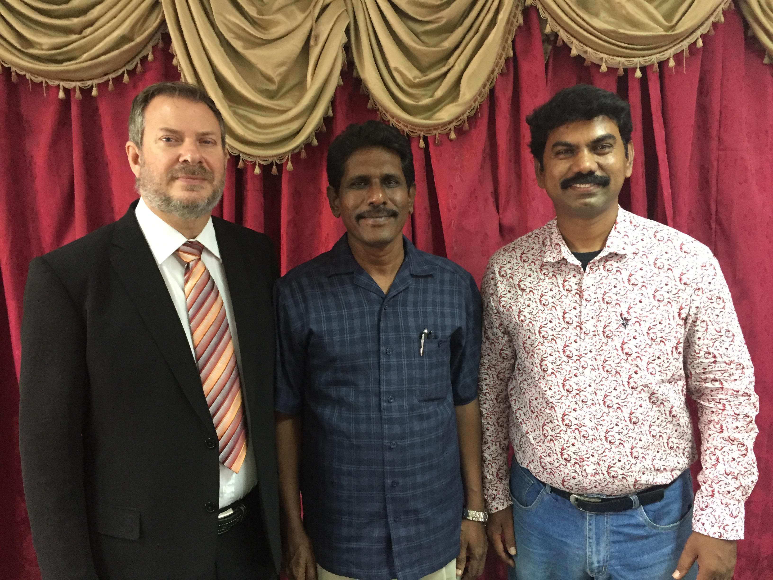 Jimmy, Pastor Jonathan and Pastor Joel in India.