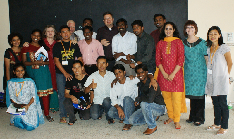 Jimmy and DeAnna with ministers we trained in India.